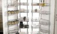 Αποθηκευτικός χώρος κουζίνας με σπαστές πόρτες που μπορεί να προσαρμοστεί σε όλα τα μέτρα